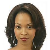 Syntetisk hår Parykker Bølget Krøllet Afroamerikansk parykk Side del Pixiefrisyre Lokkløs Festparykk Naturlig parykk Kort Brun Svart