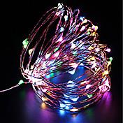 ZDM® 10 m Lysslynger 100 LED SMD 0603 10M String Light Varm hvit / Kjølig hvit / Rød <5 V 1pc / IP68