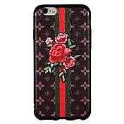Funda Para Apple iPhone 6 iPhone 6 Plus iPhone 7 Plus iPhone 7 Diseños Funda Trasera Flor Suave TPU para iPhone 7 Plus iPhone 7 iPhone 6s