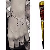 conos de henna a base de hierbas medicinales kit de tatuaje temporal arte corporal mehandi tinta hina tatuajes temporales diseños de