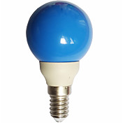 0.5W 15-25lm E14 Bombillas LED de Globo G45 7 Cuentas LED LED Dip Azul 100-240V