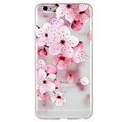 Funda Para Apple iPhone 8 iPhone 8 Plus iPhone 6 iPhone 6 Plus iPhone 7 Plus iPhone 7 Diseños En Relieve Funda Trasera Flor Caricatura