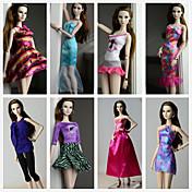 Prinsesse Kostume Til Barbiedukke polyester Kjole Til Jentas Dukke
