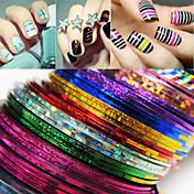 24 pcs Cinta adhesiva Abstracto / Moda Diario Nail Art Design