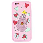Funda Para Apple iPhone 7 iPhone 6 Diseños Manualidades Cubierta Trasera Corazón Caricatura Brillante Dura Policarbonato para iPhone 7