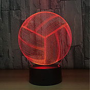 1set LED Night Light Trykk 7-Color USB-ladet Berør sensoren