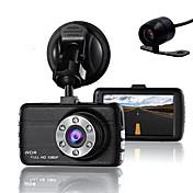 T660 848 x 480 / 1280 x 720 / 1440 x 1080 DVR del coche 170 Grados Gran angular 3 pulgada LCD Dash Cam con G-Sensor / Grabación en ciclo