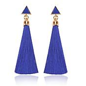 Dame Dråpeøreringer , dusk Klassisk Mote Snor Legering Trekant Smykker Daglig Kostyme smykker