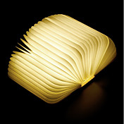 1pc Libro Luz de noche LED Blanco Cálido Batería de Li-batería incorporada Plegable Recargable Luz decorativa Con puerto USB Fácil de
