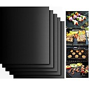 2 stk tykk ptfe grillgrillmatte non-stick gjenbrukbar bbq grillmatter ark grillfolie bbq liner