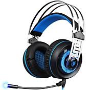 SADES A7-3 Cinta Con Cable Auriculares Dinámica El plastico De Videojuegos Auricular Con Micrófono Auriculares