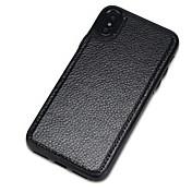 Etui Til Apple iPhone X iPhone 8 Støvtett Bakdeksel Helfarge Hard PU Leather til iPhone X iPhone 8 Plus iPhone 8 iPhone 7 Plus iPhone 7