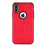 Funda Para Apple iPhone X iPhone 8 Antigolpes Confortable Funda Trasera Color sólido Dura ordenador personal para iPhone X iPhone 8 Plus