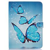 Funda Para Samsung Soporte de Coche Cartera con Soporte Diseños Activación al abrir/Reposo al cerrar Funda de Cuerpo Entero Mariposa Dura
