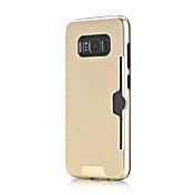 Etui Til Samsung Galaxy S8 S7 Kortholder Støtsikker Bakdeksel Helfarge Hard PC til S8 Plus S8 S7 edge S7
