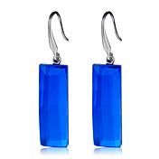 Mujer Cristal Pendientes colgantes - Cristal, Plateado Moda, Elegante Azul Real Para Fiesta / Noche / Oficina y carrera