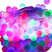 50-led 9 m impermeable enchufe de la ue al aire libre decoración de vacaciones rgb luz llevó la luz de la secuencia (220 v)