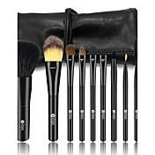 9pcs Makeup børster Profesjonell Børstesett Geitehår børste / røyskatt børste / Syntetisk hår Hestehår Plast
