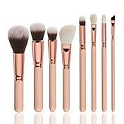 8pcs Makeup børster Profesjonell Børstesett Nylon Børste / Syntetisk hår Myk / Full Dekning Tre