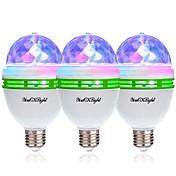 YouOKLight 3pcs 3W - E26 / E27 Bombillas LED de Globo 3 Cuentas LED LED de Alta Potencia Decorativa RGB 85-265V