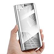 Funda Para Samsung Galaxy Nota 8 con Soporte Espejo Flip Activación al abrir/Reposo al cerrar Funda de Cuerpo Entero Color sólido Dura