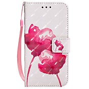 Funda Para Apple iPhone X iPhone 8 Plus Soporte de Coche Cartera con Soporte Flip Magnética Funda de Cuerpo Entero Flor Dura Cuero de PU