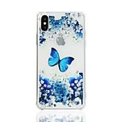 Funda Para Apple iPhone X iPhone 8 Antigolpes Transparente Diseños Funda Trasera Mariposa Suave TPU para iPhone X iPhone 8 Plus iPhone 8