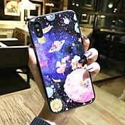 Etui Til Apple iPhone X / iPhone 8 Mønster Bakdeksel Landskap / Tegneserie Hard Herdet glass til iPhone X / iPhone 8 Plus / iPhone 8