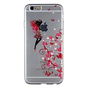 Funda Para Apple iPhone 8 iPhone 7 Transparente Diseños Funda Trasera Chica Sexy Flor Suave TPU para iPhone 8 Plus iPhone 8 iPhone 7 Plus