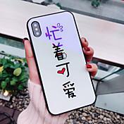 Etui Til Apple iPhone X / iPhone 8 Mønster Bakdeksel Ord / setning Hard Herdet glass til iPhone X / iPhone 8 Plus / iPhone 8