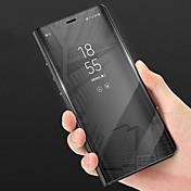 Etui Til Huawei P smart med stativ Speil Heldekkende etui Ensfarget Hard PU Leather til P smart