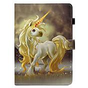 Funda Para Apple iPad (2017) iPad 4/3/2 Soporte de Coche con Soporte Flip Funda de Cuerpo Entero Unicornio Dura Cuero de PU para iPad