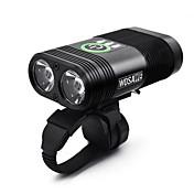 Luces para bicicleta LED doble Ciclismo Portátil / Impermeable / Soltado Rápido Li-polímero 2400lm Lumens Blanco Camping / Senderismo /