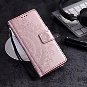 Etui Til Samsung Galaxy S9 S9 Plus Kortholder Lommebok Flipp Heldekkende etui Blomsternål i krystall Hard PU Leather til S9 Plus S9 S8