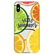 Funda Para Apple iPhone X / iPhone 8 Transparente / Diseños Funda Trasera Fruta Suave TPU para iPhone X / iPhone 8 Plus / iPhone 8