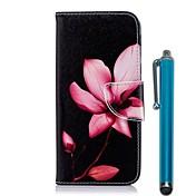 Etui Til Samsung Galaxy A6+ (2018) / A6 (2018) Lommebok / Kortholder / med stativ Heldekkende etui Blomsternål i krystall Hard PU Leather til A6 (2018) / A6+ (2018) / A5 (2017)