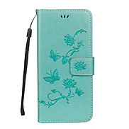 For Case Cover Card Holder Wallet with Stand Flip Embossed Full Body Case Butterfly Flower Hard PU Leather for Samsung Galaxy S8 Plus S8