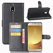 For Case Cover Card Holder Wallet Flip Full Body Case Solid Color Hard PU Leather for Samsung Galaxy J7 (2016) J7 (2017) J7 J5 (2016) J5