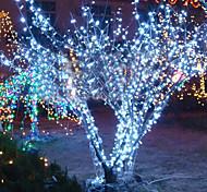 10m 6w 100-led lampada a luce bianca per la decorazione di festival di halloween (110 / 220v)