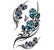 Tattoo Stickers Flower Series Pattern Waterproof Women Girl Teen Flash Tattoo Temporary Tattoos