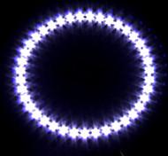 Car Headlight / Decorative Light (Angel Eye Light, 39 LED, 12cm, White)