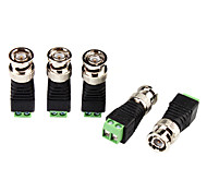 cheap -Connector for CCTV Security Camera BNC Plug Connector Adapter Video Transceiver 5Pcs for Security Systems 4.2*1.5*1.5cm 0.06kg