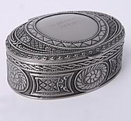 Personalized Vintage Tutania Oval Jewelry Box