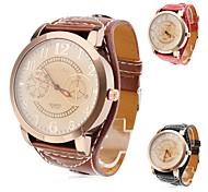 cheap -Women's Watch Fashion Big Dial PU Band Cool Watches Unique Watches Strap Watch