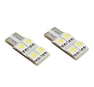 T10 4*5050 SMD White LED CANBUS Car Signal Lights (2-Pack, DC 12V)