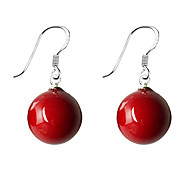 cheap -Women's Pearl Imitation Pearl 1 1 Pair Drop Earrings - Simple Basic Lovely Sweet Red Blue Round Ball Earrings For Date Daily Wear