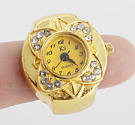 cheap -Women's Quartz Ring Watch Japanese Casual Watch Alloy Band Flower / Vintage Gold