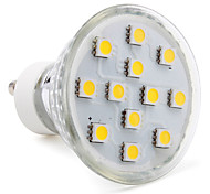 3W GU10 LED Spotlight MR16 12 SMD 5050 80-100lm Warm White 2800K AC 220-240V