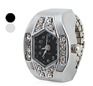 cheap -Women's Quartz Ring Watch Japanese Imitation Diamond Band Sparkle Silver