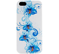 Blue Flower Pattern Soft Case for iPhone 5/5S